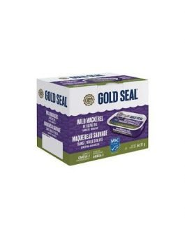 Gold Seal Wild Mackerel Skinless Boneless in Olive Oil, 6 x 115g